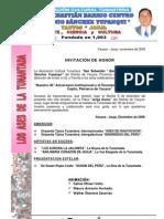 Invitacion Por Aniversario San Sebastian