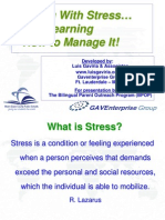 Living with Stress and  Learning How to Manage it -L  Gaviria