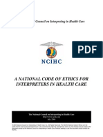 A National Code of Ethics for Interpreters in Health Care
