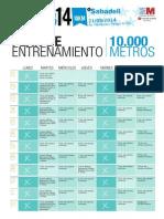Plan Entrenamiento 10000 Mxm 20142