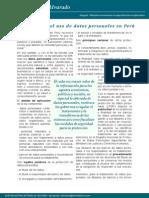 Regimen para el uso de Banco de Datos Personales en Perú