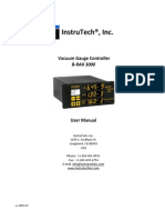 Vacuum Gauge Controller B-RAX 3000 Instruction Manual