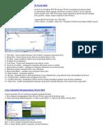 Pengenalan Microsoft Microsoft Word 2003