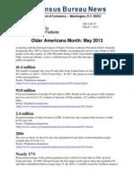 U.S. Census report on Centenarians