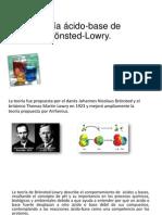 Teoría Ácido-base de Brönsted-Lowry