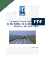 Guía Para El Mantenimiento de Las Pistas de Acuerdo Con El Anexo 14 de La OACI