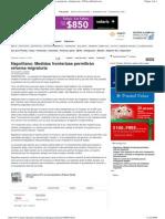 Napolitano Medidas fronterizas permitirán reforma migratoria