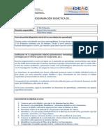 Modelo Programación Anual PROideac