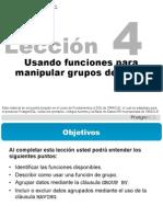 Postgres - Funciones Para Manipular Grupo de Datos