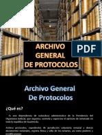 Presentacion Archivo Gral de Protocolos