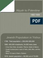 Aliya to Palestine (1886 - 1938)