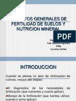Aspectos Generales de Fertilidad de Suelos y Nutricion