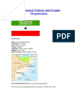 Somaliland :-Unrepresented Nations and Peoples Organization