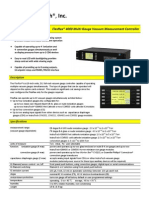 FlexRax 4000 Multi-Gauge Vacuum Measurement Controller Data Sheet