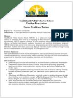 Career Readiness Training Position Description