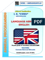 Programación Anual Idioma Extranjero Cuarto Grado