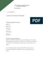 Examen Diagnostico 3 grado Matemáticas