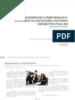 Desempenho Ou Performance
