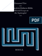 Tov, Emanuel - Collected Essays on the Septuagint 1999