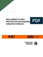 R-007 Reglamento Para Proyectar Sin Barreras Arquitectonicas