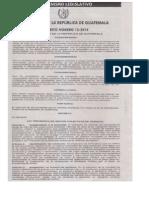Decreto 15-2014 Ley Preventiva de Hechos Colectivos de Tránsito