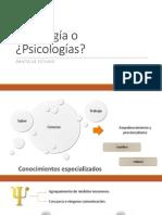 Psicología o ¿Psicologías