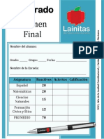 3er Grado - Examen Final (2013-2014)