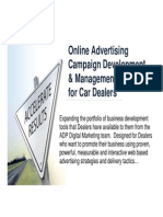Online Advertising and Marketing for Car Dealers