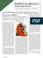 ISKCON Prison Ministries Freedom Newsletter