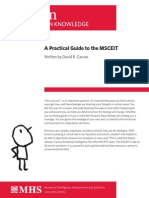 Practical Guide to MSCEIT
