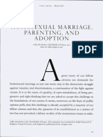 Homosexual Marriage, Parenting, And Adoption