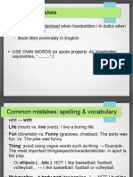 ESL Common Mistakes in Writings