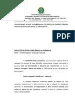 MPF impugna ata da convenção da Coligacao Coragem Atitude Para Mudar II - PTB, PSL, PPS