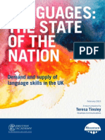 Tinsley(2013) Languages State of Nation(UK)