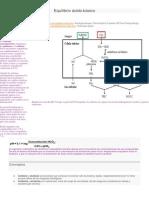 Equilibrio Ácido Alcalosis y Acidosis