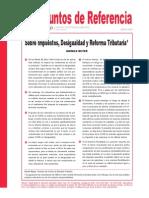 Beyer - Sobre Impuestos, Desigualdad y Reforma Tributaria