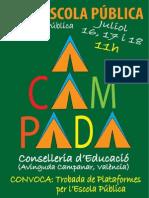 Valencia. Trobada de Plataformas Per l'Escola Pública - Acampada Per l'Escola Pública 2014