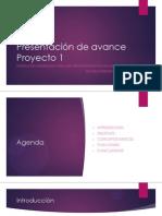 Presentación de Avance Proyecto 1