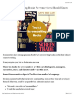 Top 10 Screenwriting Books for Screenwriters