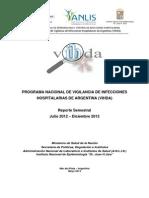 VIHDA - Reporte Semestral Julio - Diciembre 2012