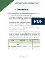 IV Formulacion-V Evaluacion-VI Conclusion