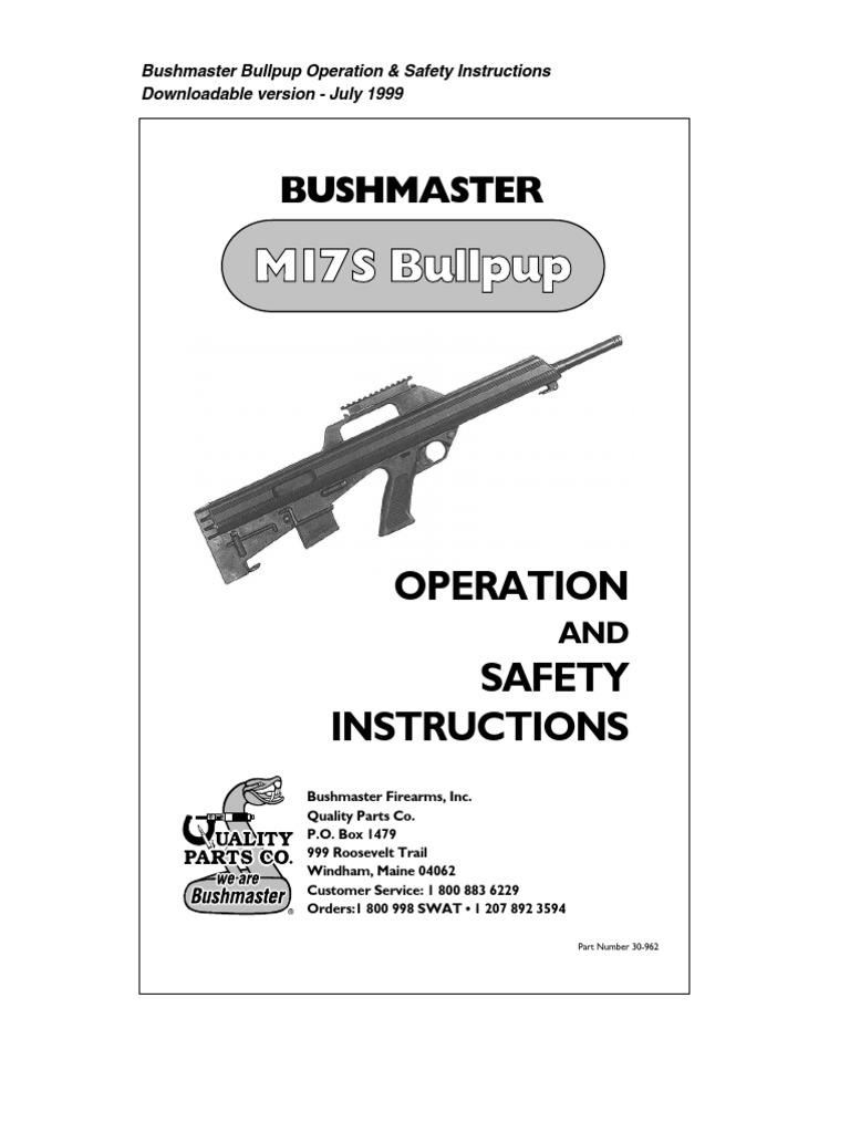 M17S Bullpup: Bushmaster