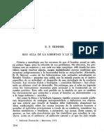 Mas Alla de La Libertad y La Dignidad. B.F Skinner