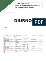 Oferta de Disciplinas 2014.1