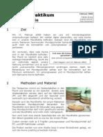 Biologiepraktikum Bakteriologie