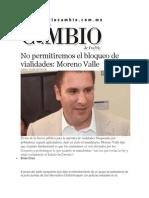 10-07-2014 Diario Matutino Cambio de Puebla - No permitiremos el bloqueo de vialidades, RMV..