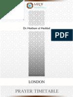MRDF London Timetable