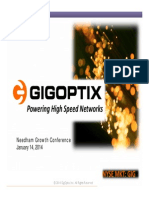 GigOptix (GIG) Needham Conference Version 1.14.14 FINAL