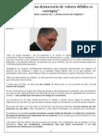 Buttiglione Una Democracia de Valores Débiles Es Corrupta