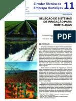 Sistemas de Irrigação Para Hortaliças